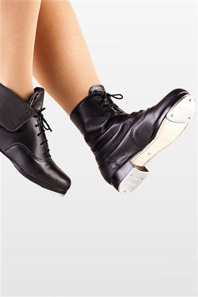 So Danca Black Leather Split Rubber Sole Dance Shoe Toddler Girls 9.5