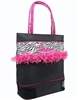 Sassi Designs ZBR-02 Zebra & Fringe Medium Tote with Dance