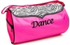 Sassi Designs ZEB-02 Zebra trim, hot pink roll duffel 8 x 14