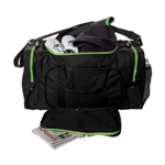 "Sassi Designs SD624-Green 24"" Square Duffel - Black with Green Trim"