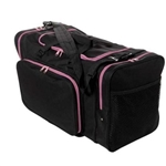 "Sassi Designs SD624-Pink 24"" Square Duffel - Black with Pink Trim"