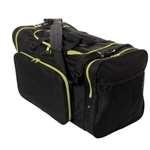 "Sassi Designs SD624-Yellow 24"" Square Duffel - Black with Yellow Trim"