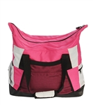 Zip Top Tote - Pink with black trim - You Go Girl Dancewear