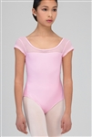 Wear Moi Youth Cap Sleeve Leotard w/ Lace Detail