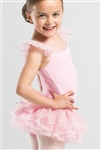Wear Moi Girls Microfiber Dress w/ Sequin Tulle Skirt