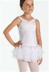 Wear Moi Girls Slight Sparkle Microfiber Dress w/ Glitter Tulle Skirt