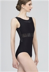 Wear Moi Adult Tank Leotard w/ Perforated Microfiber Detail