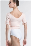Wear Moi Adult Knitted Acrylic Short Sleeve Crop Sweater