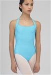 Wear Moi Youth Halter Leotard w/ Embossed Mircofiber Details