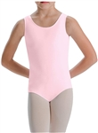 You Go Girl Pink Junior Plus Silk Teck Tank Leotard for Girls