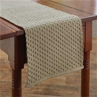 Chadwick Flax Table Runner 54""