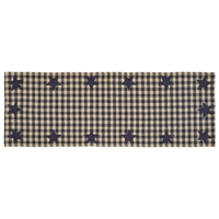 Navy Star Table Runner 36""