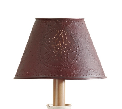 Metal Red Star Lamp Shade 6""