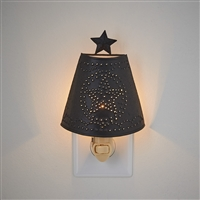 Punched Star Shade Night Light