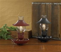 Black Chamberstick Lamp with Shade