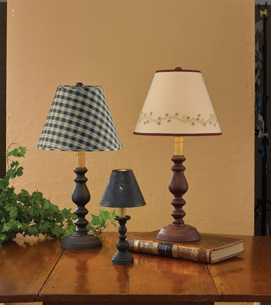Black candlestick lamp 8 1 2