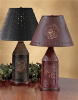 Black Willow Punched Revere Lamp