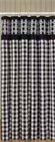 Checkerboard Star Shower Curtain
