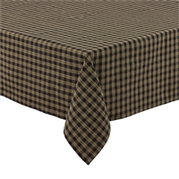 "Sturbridge Black Tablecloth 58"" x 84"""