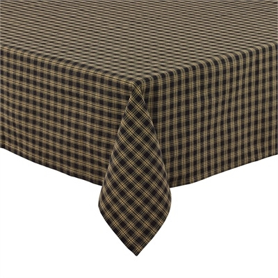 "Sturbridge Black Tablecloth 60"" x 84"""
