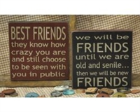 "Best Friends or ""We will be friends"" saying Block"