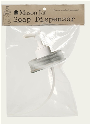 Mason Jar Soap or Lotion Dispenser Replacement Hand Pump - Barn Roof