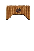 Montclair Lined Jabot Valance - Gold