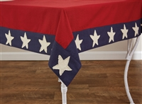 "Star Spangled Tablecloth 54"" x 54"""
