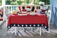 "Star Spangled Tablecloth 60"" x 84"""