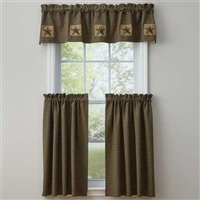 Pieced Star Lined Valance