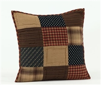 "Patriotic Patch Quilted Pillow 16"" x 16"""