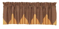 Patriotic Patch Plaid Valance Layered Lined