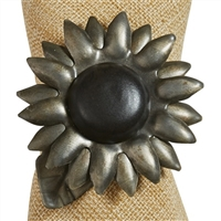 Sunflower Galvanized Napkin Ring