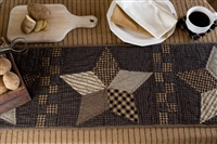 Farmhouse Star Quilted Runner 36""