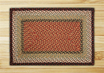 Rectangle Rug - Burgundy/Mustard