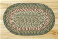 Oval Trivet - Green/Burgundy