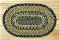 Oval Trivet - Black/Mustard/Cream