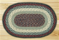 Oval Trivet - Blue/Burgundy