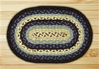 Oval Trivet - Blueberry/Cream