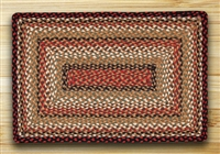 Rectangle Rug - Burgundy/Mustard/Ivory