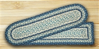 Oval Stair Tread - Breezy Blue/Taupe/Ivory