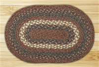Oval Trivet - Burgundy/Gray