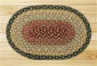 Oval Trivet - Burgundy/Gray/Cream