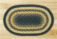 Oval Trivet - Light Blue/Dark Blue/Mustard