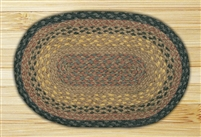 Oval Trivet - Brown/Black/Charcoal