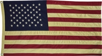 Tea Stained American Flag Large