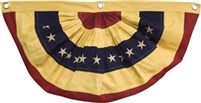 American Flag Bunting Small Tea Stained