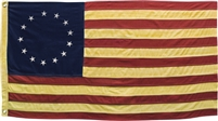 Tea Stained Betsy Ross Flag Small