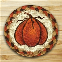 Printed Harvest Pumpkin Braided Coaster
