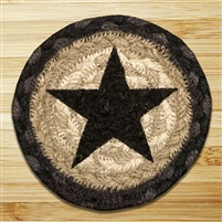 Black Star Braided Coaster - Set of 4